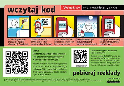 Kody 2D na przystankach komunikacji miejskiej